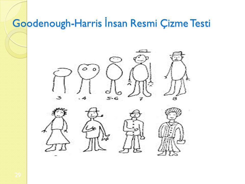 Goodenough-Harris İ nsan Resmi Çizme Testi 29