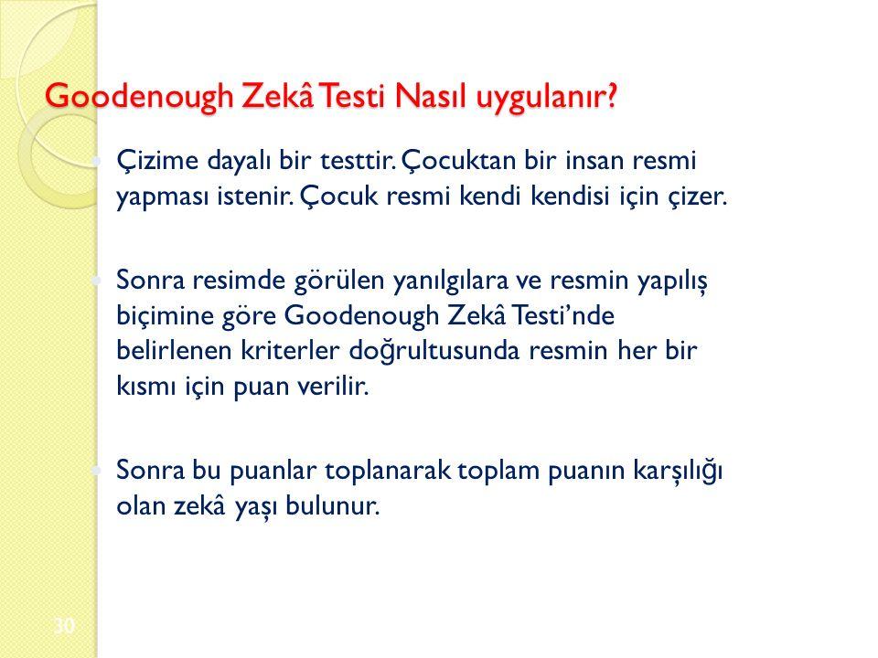 Goodenough Zekâ Testi Nasıl uygulanır. Çizime dayalı bir testtir.