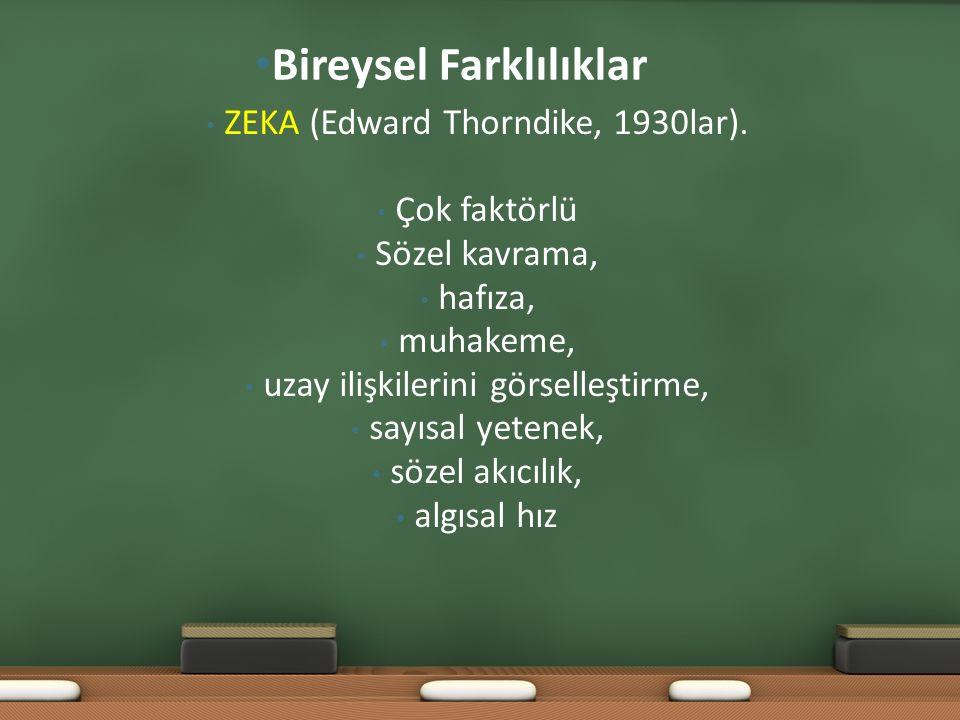 ZEKA (Edward Thorndike, 1930lar).