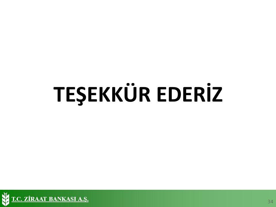 T.C. ZİRAAT BANKASI A.Ş. TEŞEKKÜR EDERİZ 34