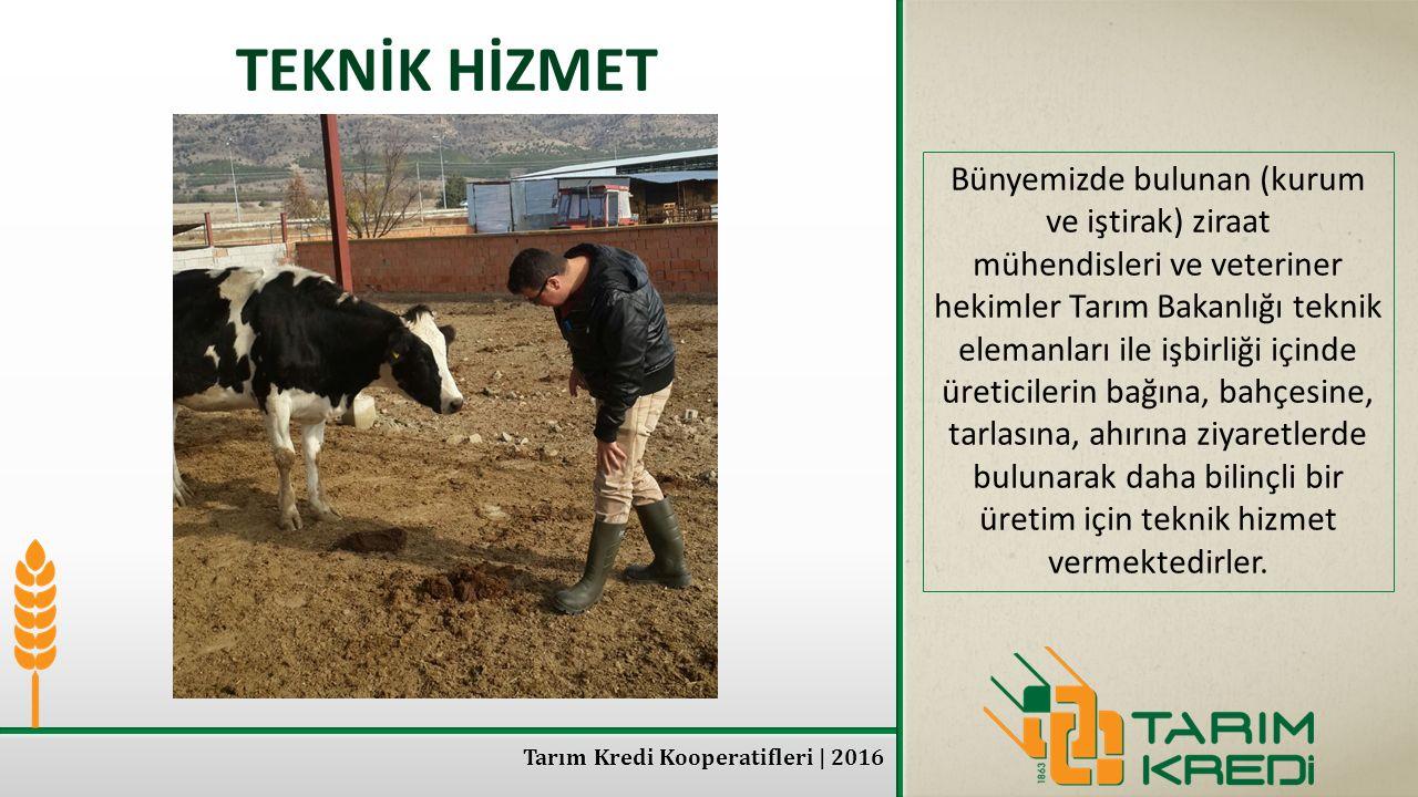 TEKNİK HİZMET Bünyemizde bulunan (kurum ve iştirak) ziraat mühendisleri ve veteriner hekimler Tarım Bakanlığı teknik elemanları ile işbirliği içinde ü