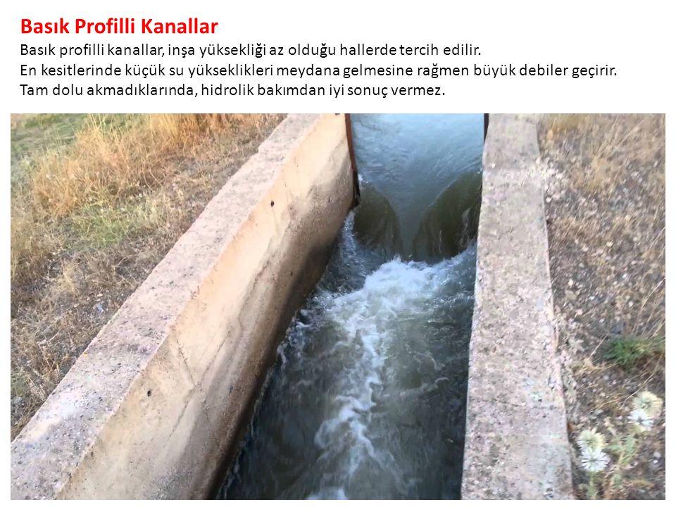 Basık Profilli Kanallar Basık profilli kanallar, inşa yüksekliği az olduğu hallerde tercih edilir.