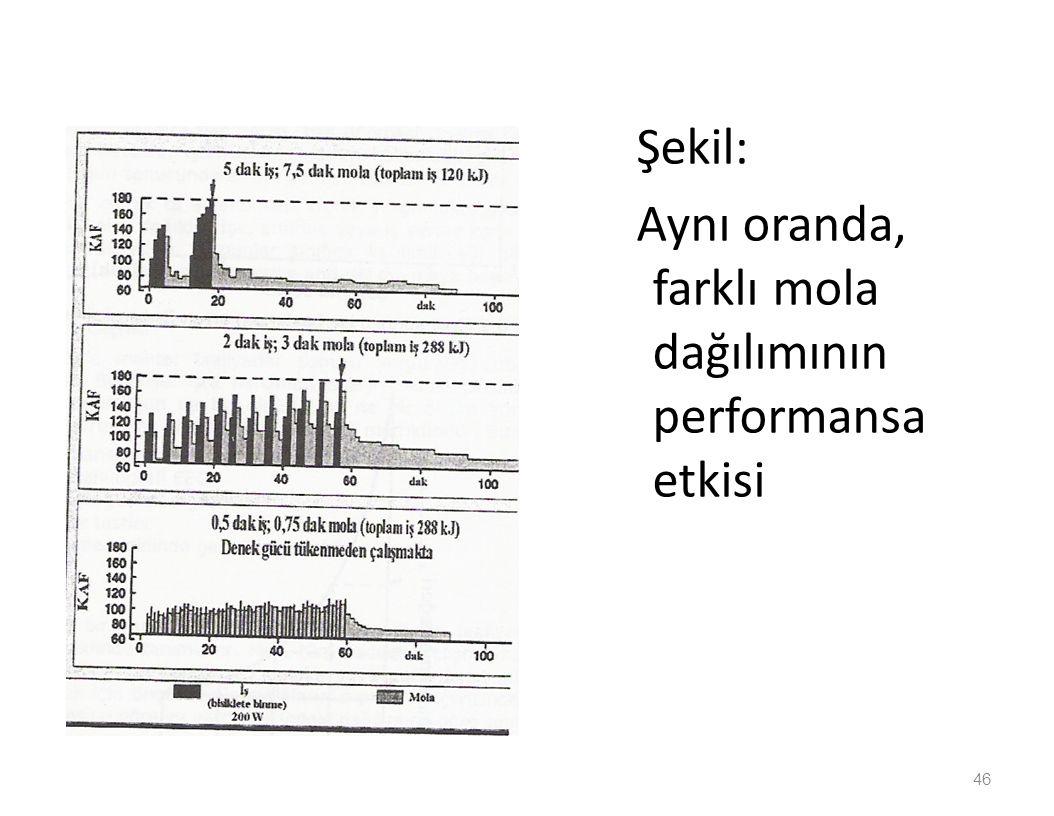 Şekil: Aynı oranda, farklı mola dağılımının performansa etkisi 46