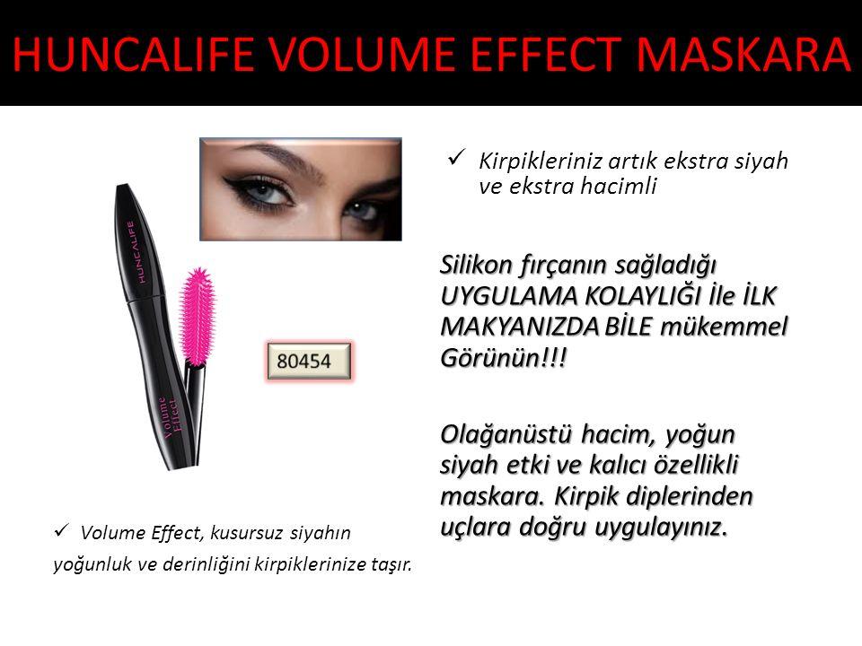 HUNCALIFE VOLUME EFFECT MASKARA Volume Effect, kusursuz siyahın yoğunluk ve derinliğini kirpiklerinize taşır. Kirpikleriniz artık ekstra siyah ve ekst