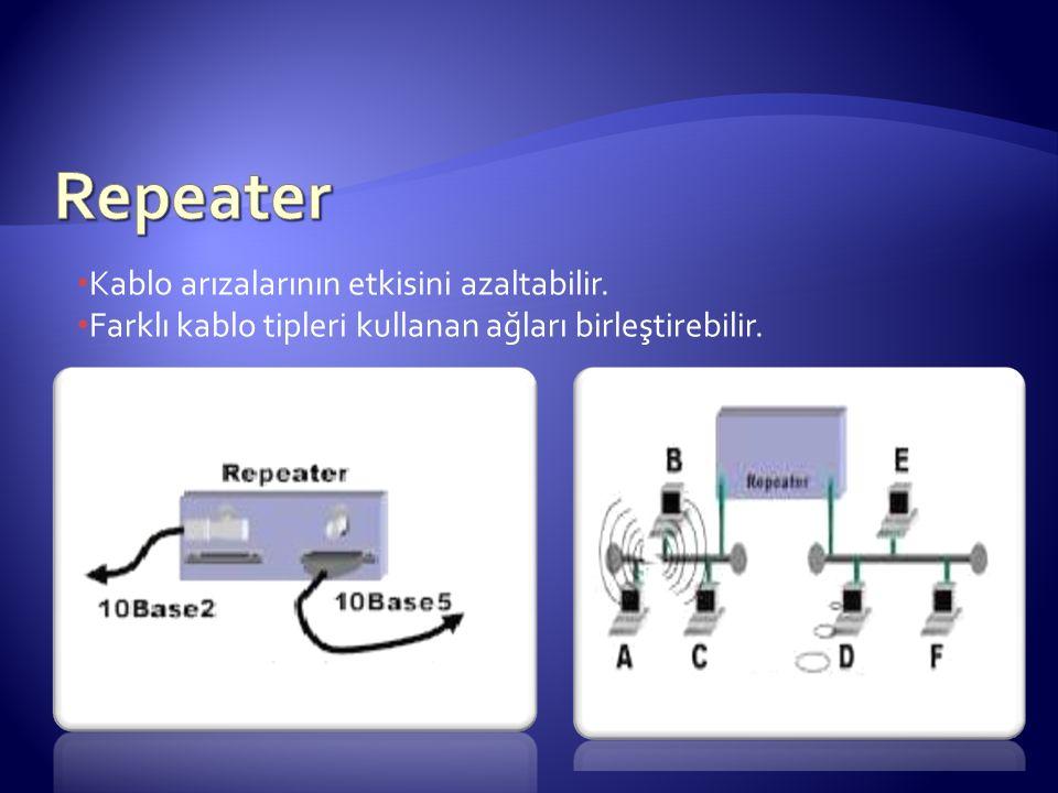 Kablo arızalarının etkisini azaltabilir. Farklı kablo tipleri kullanan ağları birleştirebilir.