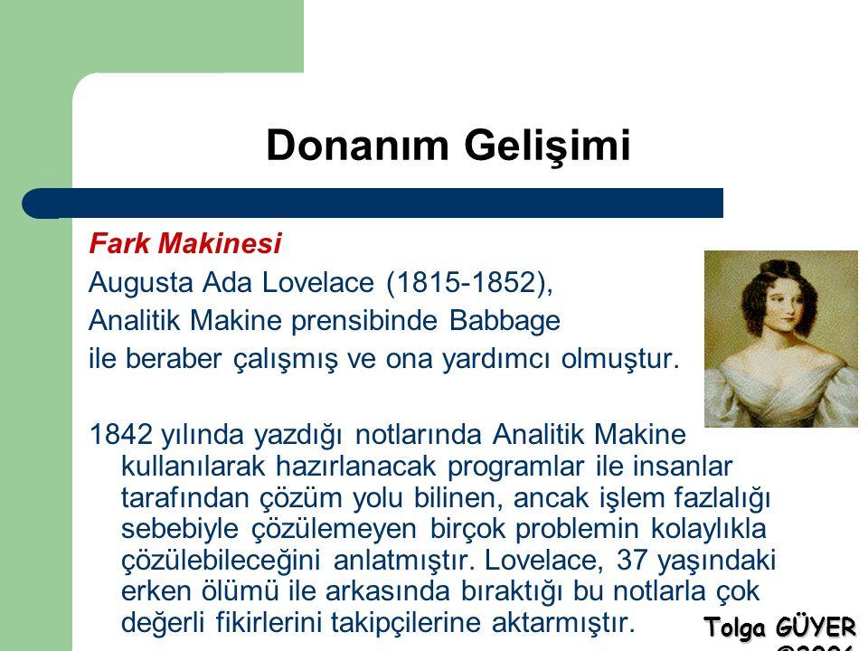 Donanım Gelişimi Mark-I Alman asıllı bir Amerikalı olan istatistikçi Herman Hollerith (1860-1929), 1890 yılı nüfus sayımında delikli kart sistemini kullanan, kendi geliştirdiği ve Mark-I adını verdiği makineyi kullanmıştır.