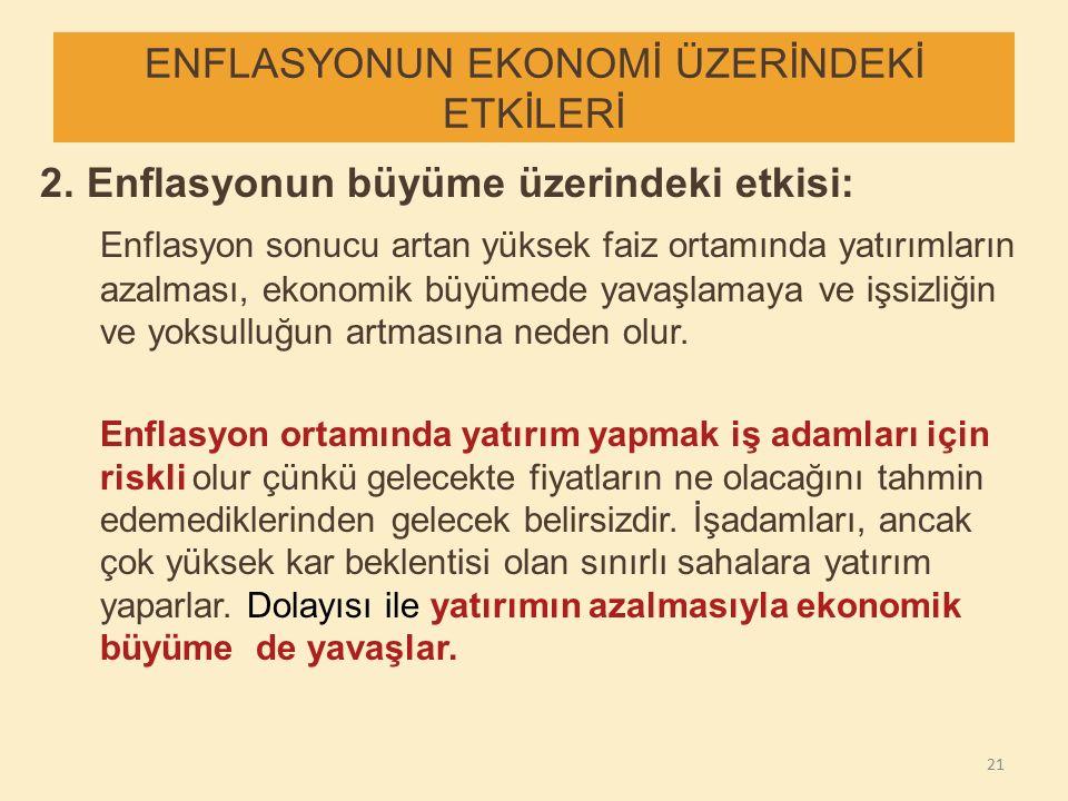 ENFLASYONUN EKONOMİ ÜZERİNDEKİ ETKİLERİ 2.