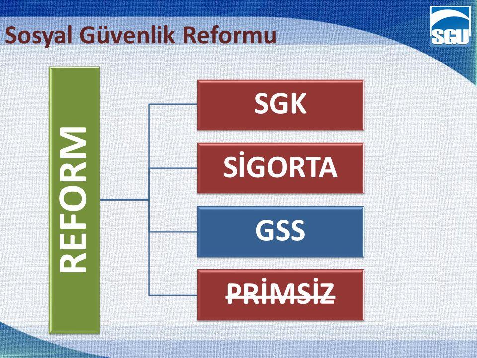 17 Sosyal Güvenlik Reformu REFORM SGK SİGORTA GSS PRİMSİZ