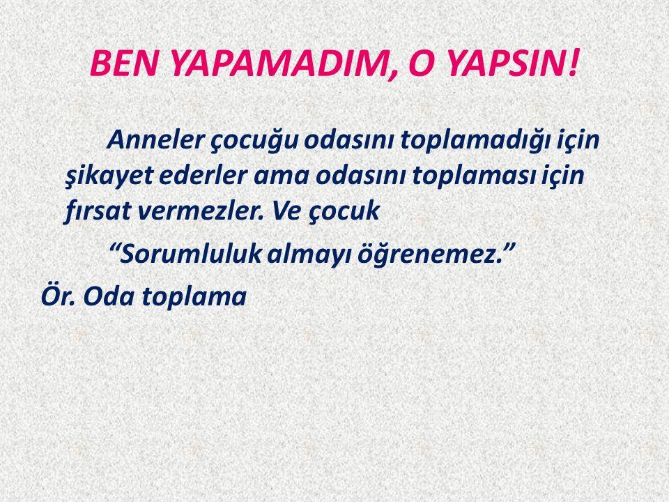 BEN YAPAMADIM, O YAPSIN.