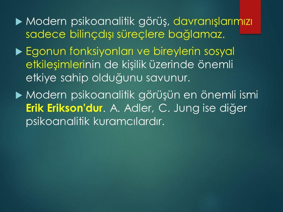 Erikson a göre kimlik krizi altı şekilde sonuçlanabilir:  1.