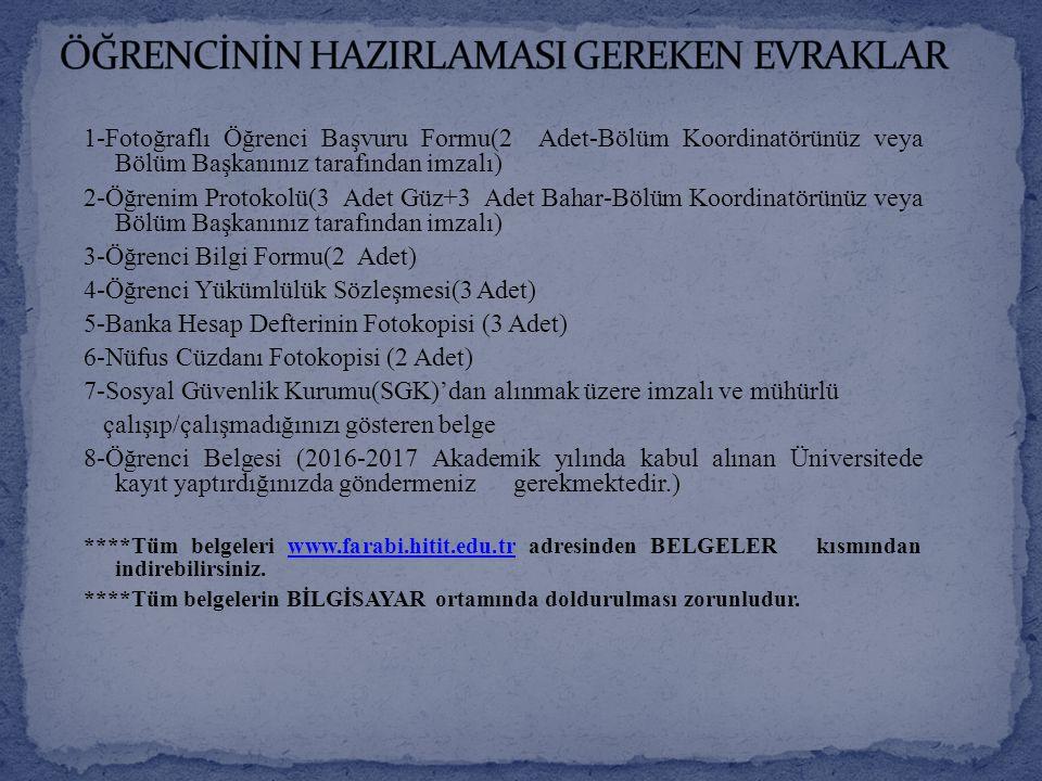 Kayıt işlemleriniz Hitit Üniversitesi'nde yapılacaktır.