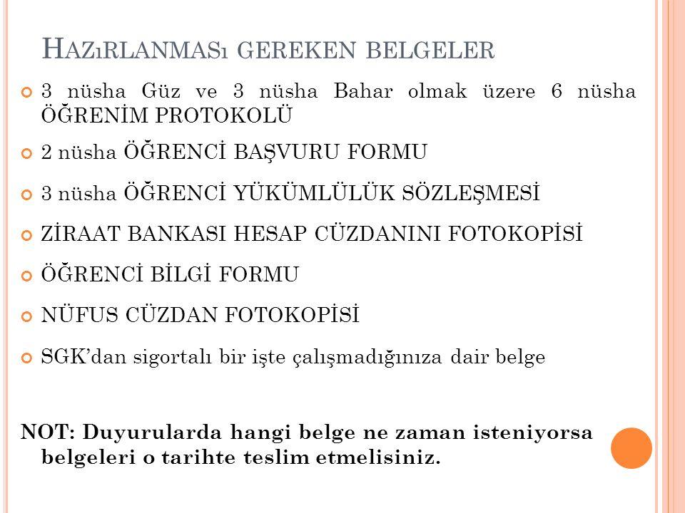 DİKKAT EDİLMESİ GEREKEN UNSURLAR Dikkat!.