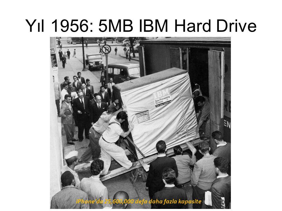 Yıl 1956: 5MB IBM Hard Drive iPhone'da 25,600,000 defa daha fazla kapasite