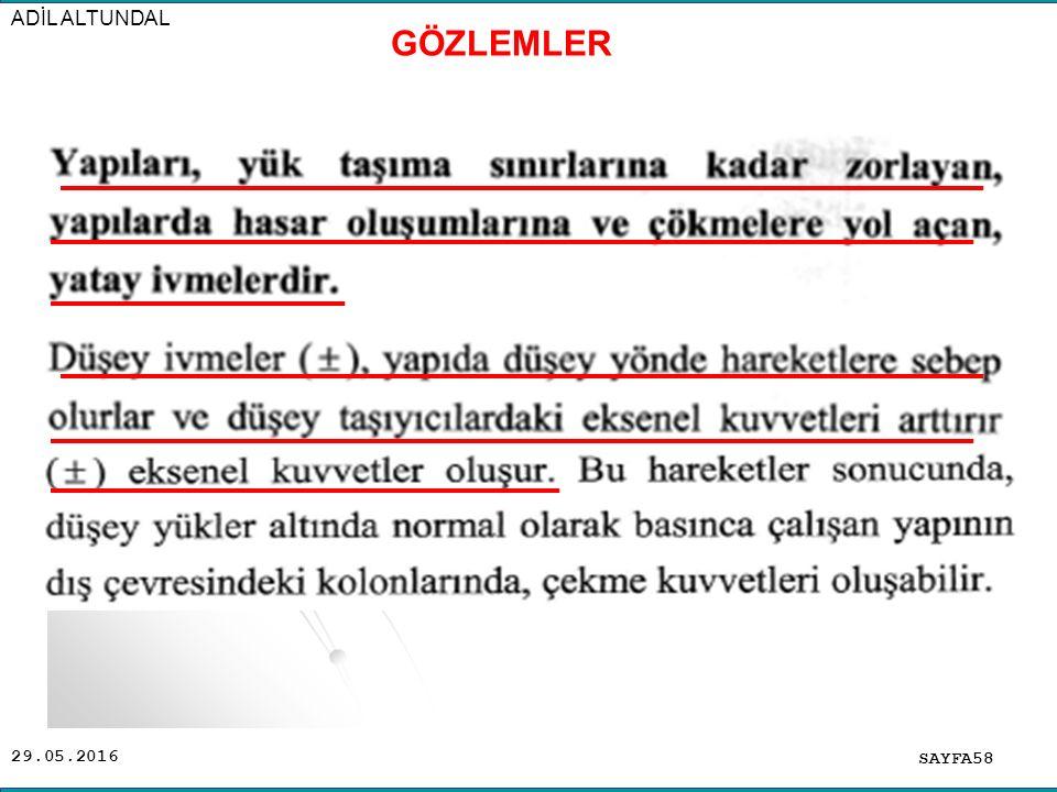 29.05.2016 ADİL ALTUNDAL SAYFA58 GÖZLEMLER