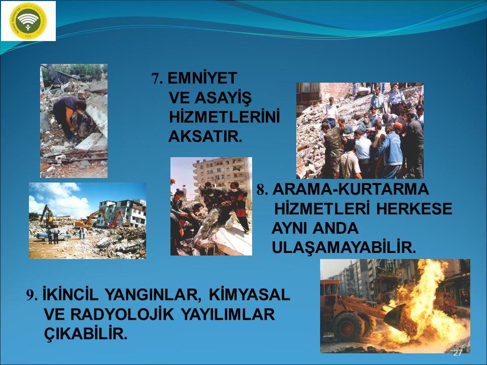 4.ÖLÜM, SAKAT KALMA GİBİ SONUÇLAR DOĞURUR. 5.