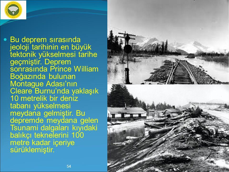 28 Mart 1964 Alaska Depremi (9.2) Büyüklüğü 9,2 olan ve 28 Mart 1964 yılında meydana gelen Alaska depremi, Alaska ile Batısında bulunan Yukon bölgesin
