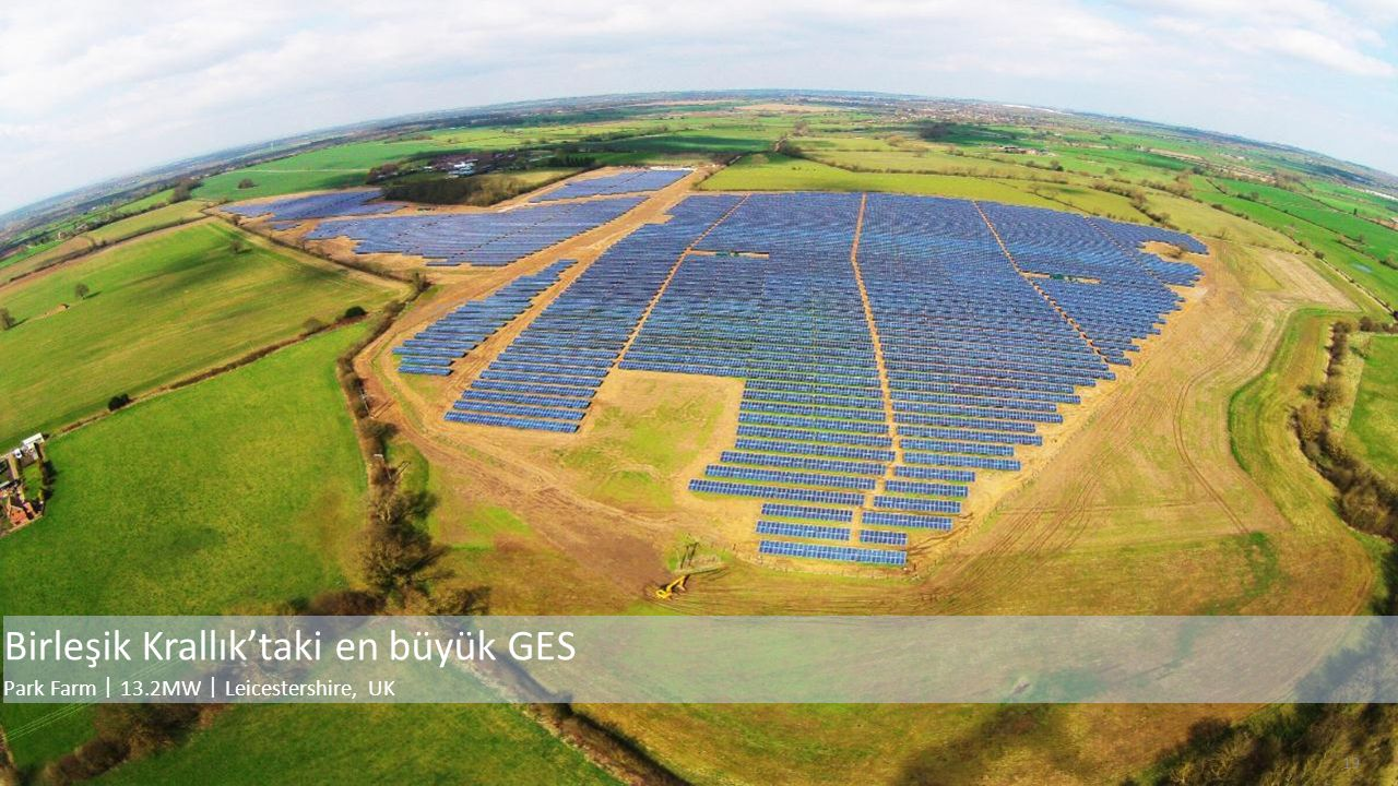 19 Birleşik Krallık'taki en büyük GES Park Farm 丨 13.2MW 丨 Leicestershire, UK