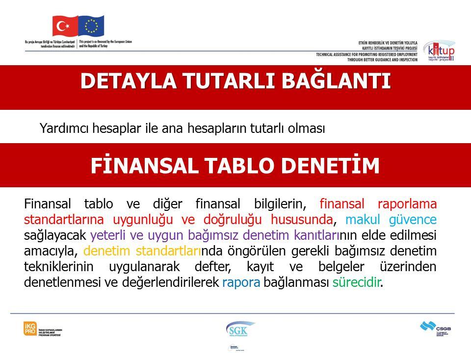 Finansal tablo ve diğer finansal bilgilerin, finansal raporlama standartlarına uygunluğu ve doğruluğu hususunda, makul güvence sağlayacak yeterli ve u
