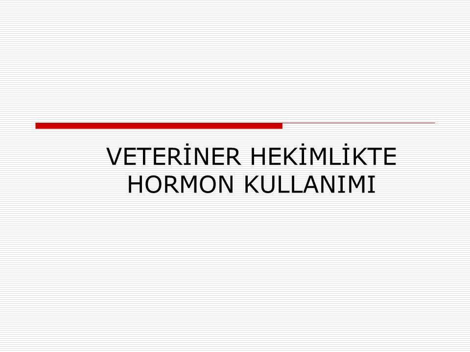 VETERİNER HEKİMLİKTE HORMON KULLANIMI