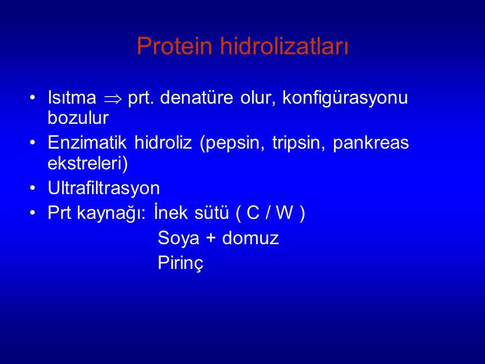 Protein hidrolizatları Isıtma  prt.
