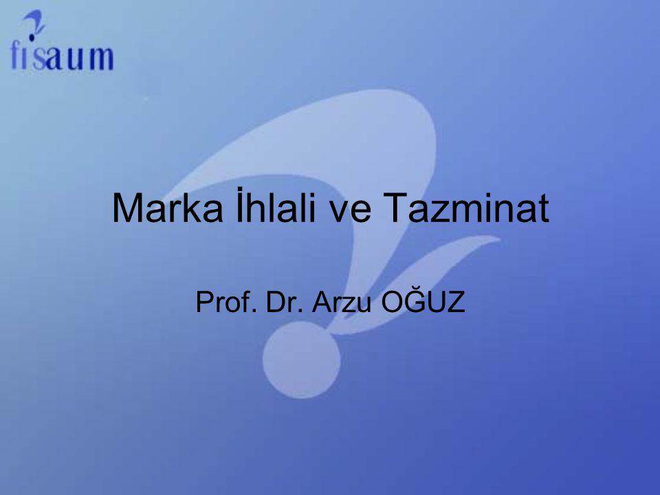 Marka İhlali ve Tazminat Prof. Dr. Arzu OĞUZ