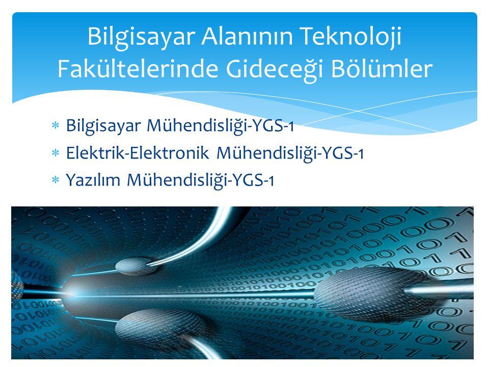  Bilgisayar teknolojisi ve bilişim sistemleri-YGS-1  Bilişim sistemleri ve teknolojileri-YGS-1  İşletme bilgi yönetimi-YGS-6  Yönetim bilişim sistemleri-YGS-6  Bilgisayar ve öğretim teknolojileri öğretmenliği- YGS-1 Bilgisayar Alanının Ek Puan Alarak Gideceği Bölümler