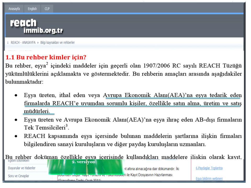 Nisan 2011 2. versiyon E ş ya içindeki madde tanımlanmasına yönelik rehber