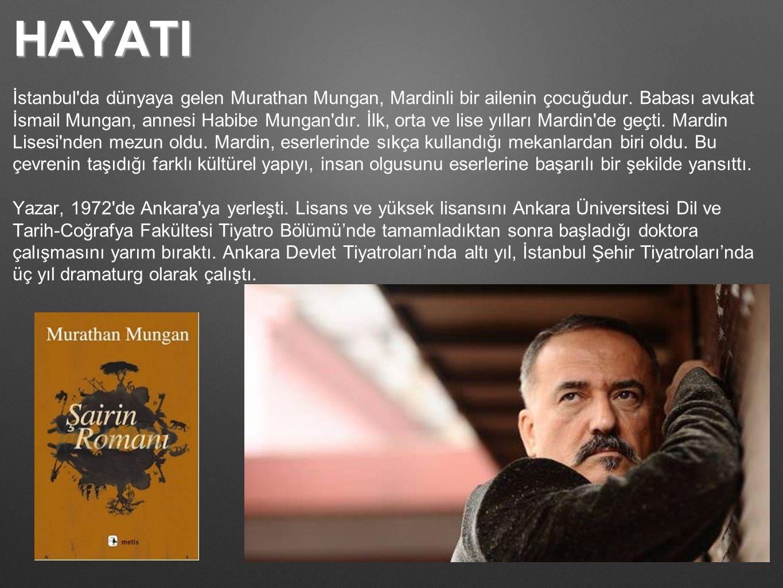 HAYATI İstanbul'da dünyaya gelen Murathan Mungan, Mardinli bir ailenin çocuğudur. Babası avukat İsmail Mungan, annesi Habibe Mungan'dır. İlk, orta ve