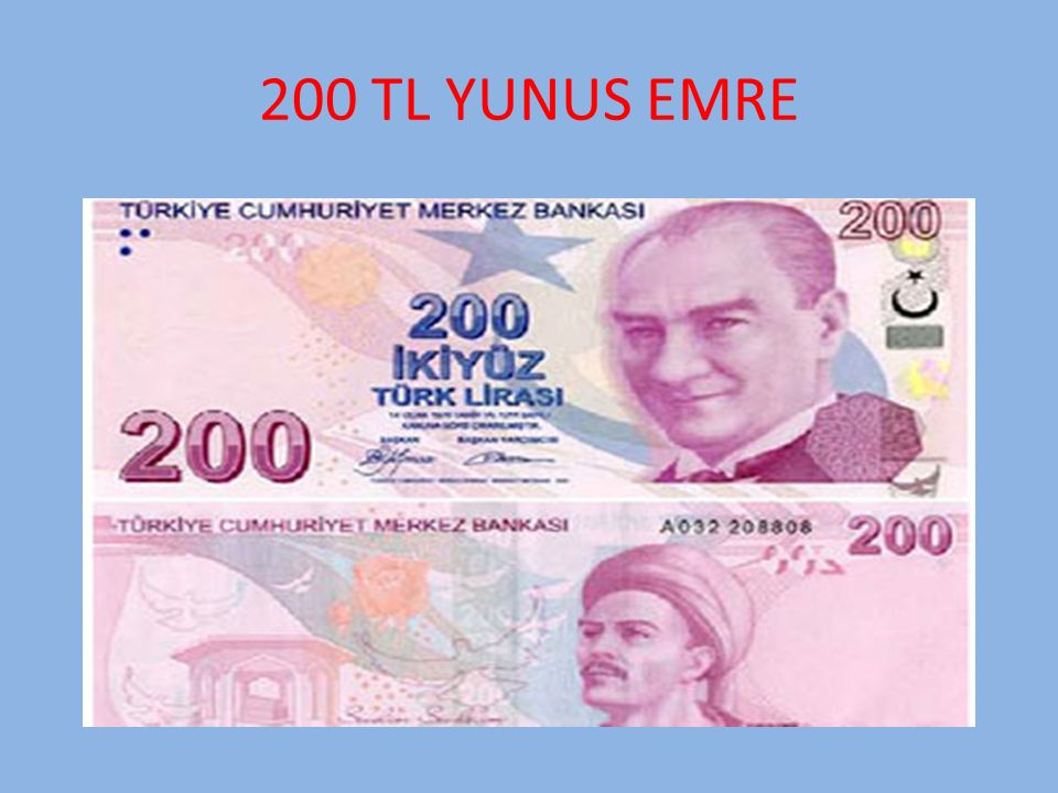 200 TL YUNUS EMRE