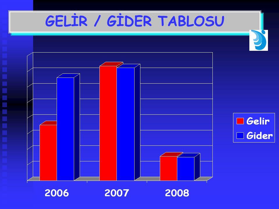 GELİR / GİDER TABLOSU