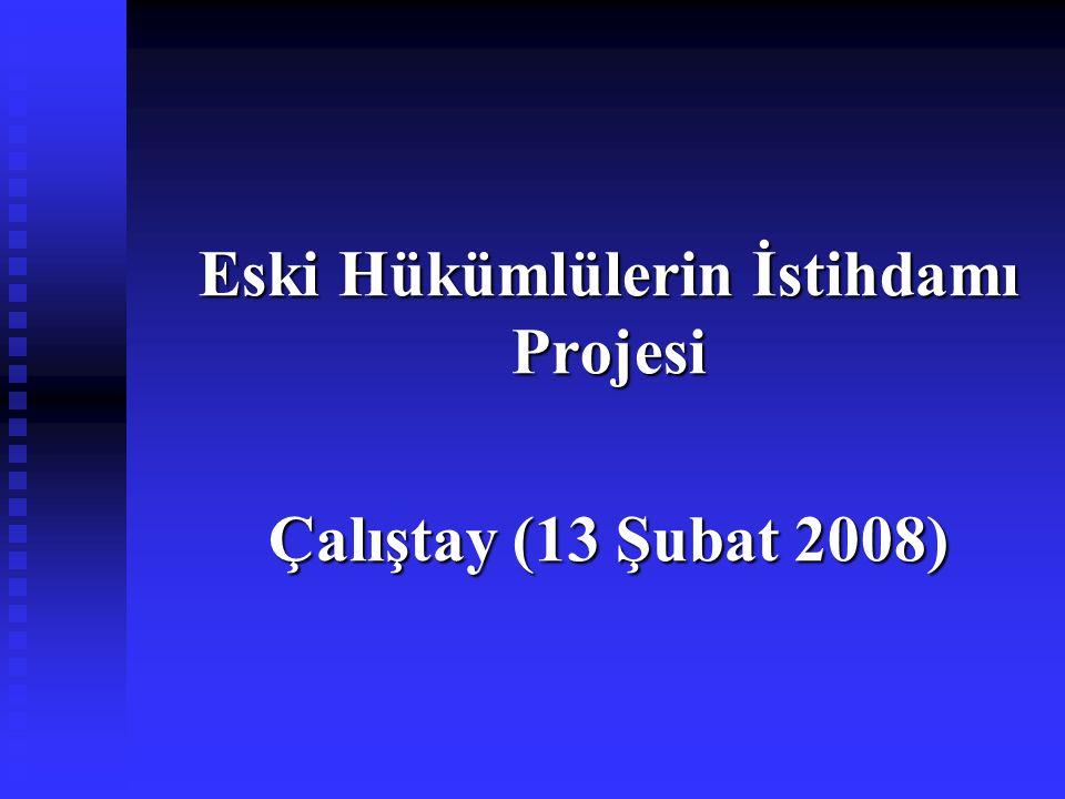 Eski Hükümlülerin İstihdamı Projesi Çalıştay (13 Şubat 2008)