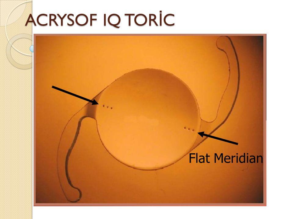 ACRYSOF IQ TOR İ C Flat Meridian