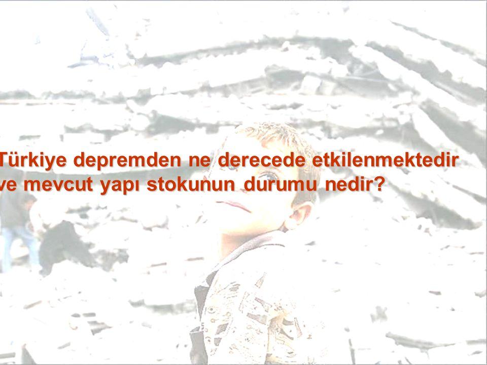 Türkiye depremden ne derecede etkilenmektedir ve mevcut yapı stokunun durumu nedir?