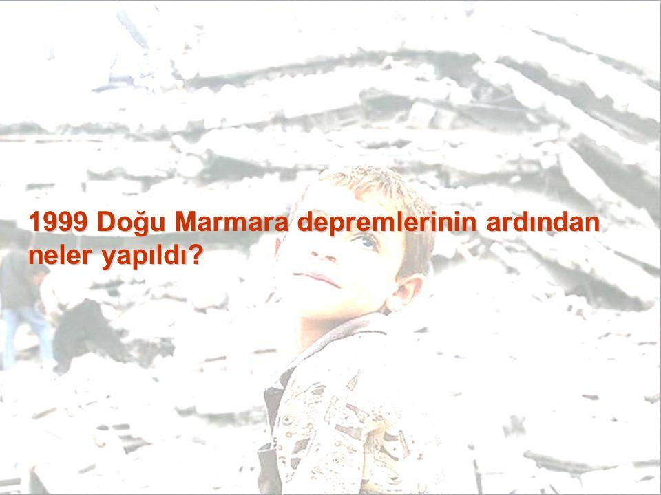1999 Doğu Marmara depremlerinin ardından neler yapıldı