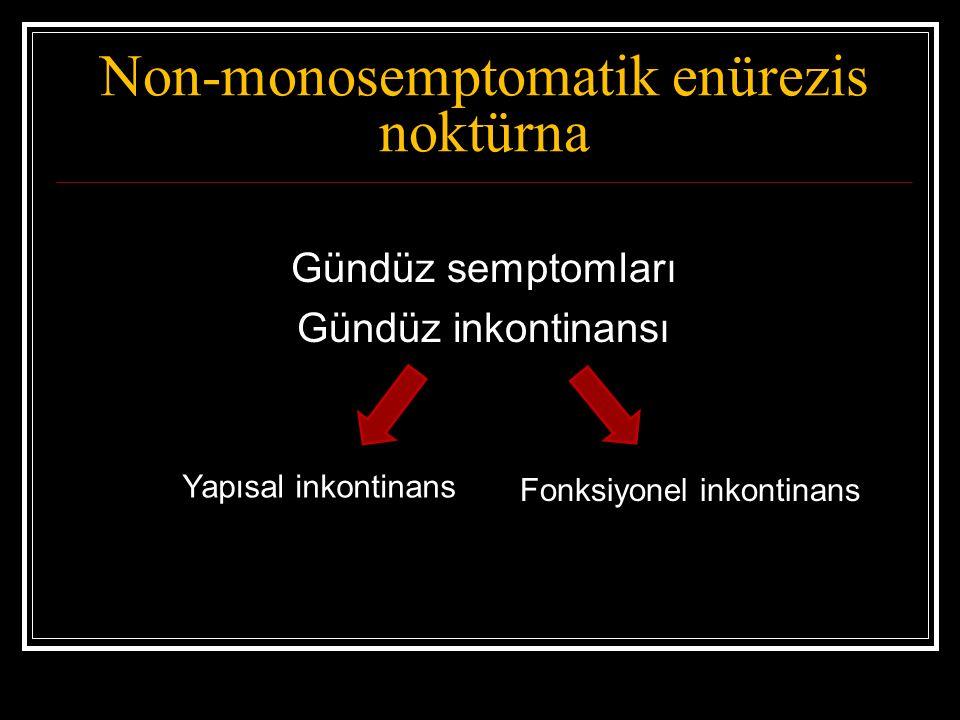 Farmakolojik tedavi Desmopressin Trisiklik antidepressanlar Antikolinerjikler Prostaglandin inhibitörleri