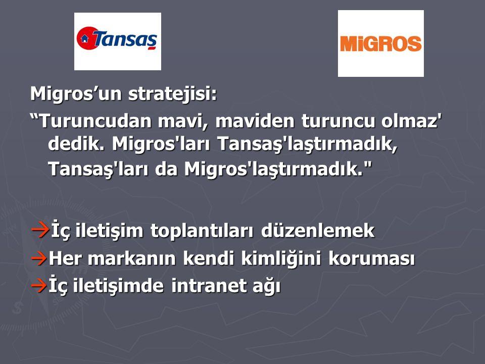 Migros'un stratejisi: Turuncudan mavi, maviden turuncu olmaz dedik.