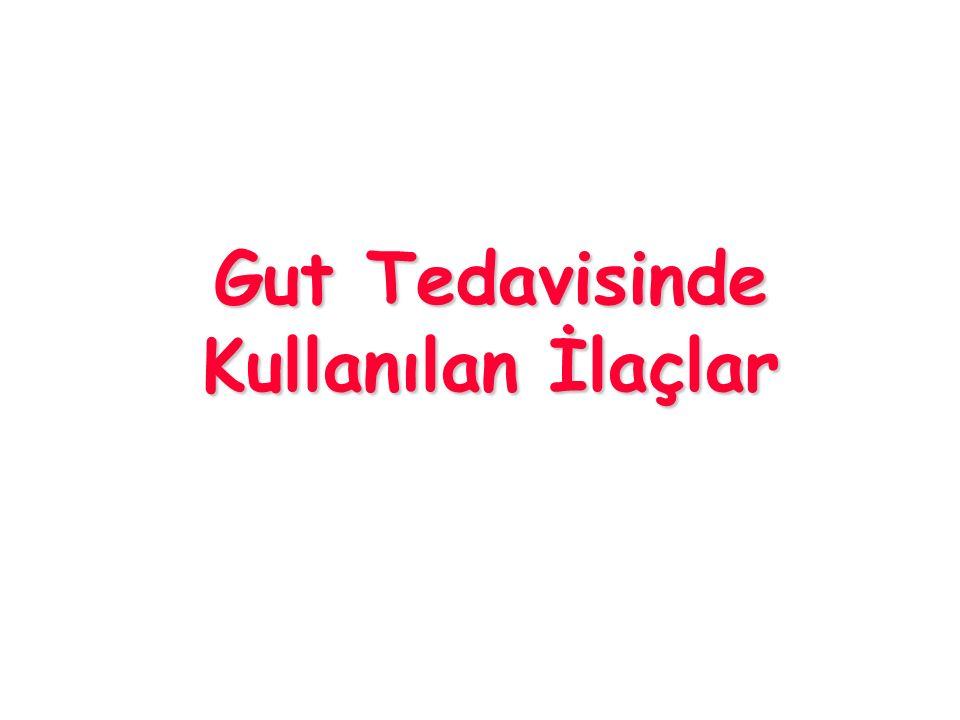 Gut Tedavisinde Kullanılan İlaçlar
