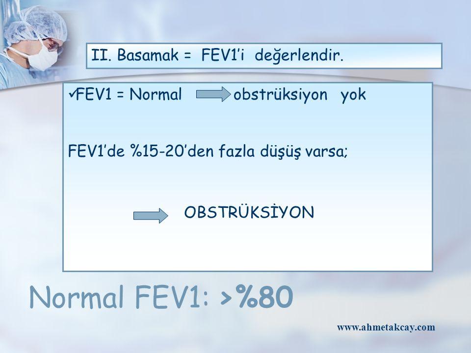 II. Basamak = FEV1'i değerlendir.
