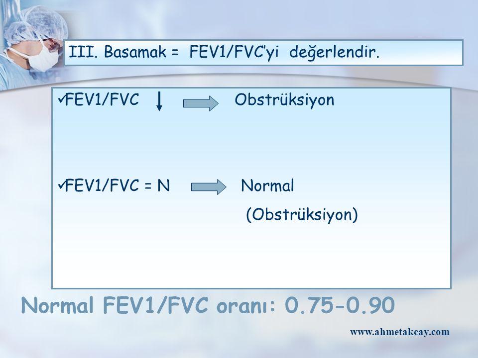 III. Basamak = FEV1/FVC'yi değerlendir.