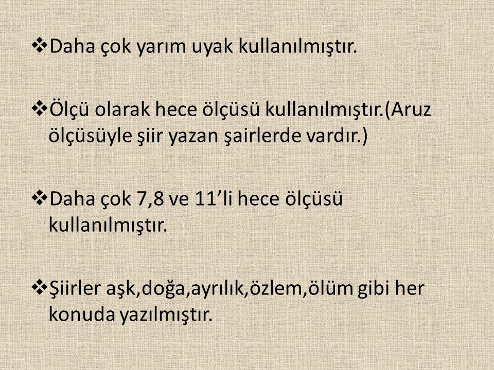 ERZURUMLU İBRAHİM HAKKI 18.yy şairidir. → Erzurum'a bağlı Hasankale'de doğmuştur.