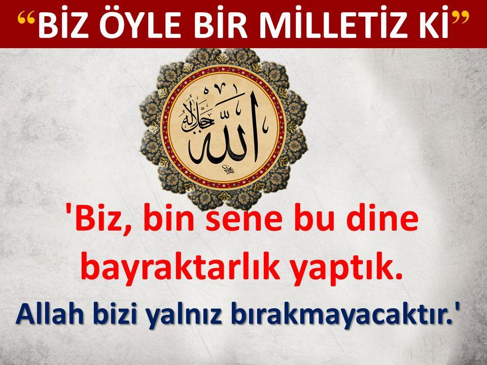 Çanakkale Geçilmez.Çünkü Türklerin Atacak Barutu Yoktu, Biz Orada, Gökten İnen Güçleri Gördük.