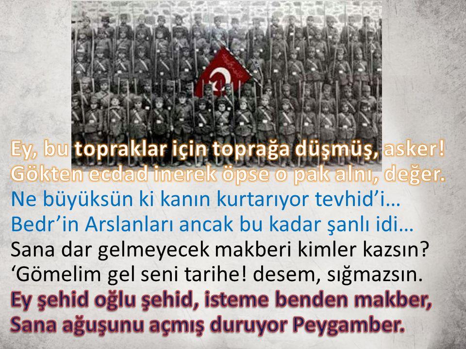 Yer: Çanakkale / Gelibolu sırtları/ kanlıdere Anlatan: Hattatoğlu Mustafa Hattatoğlu Mustafa diye bir zat.