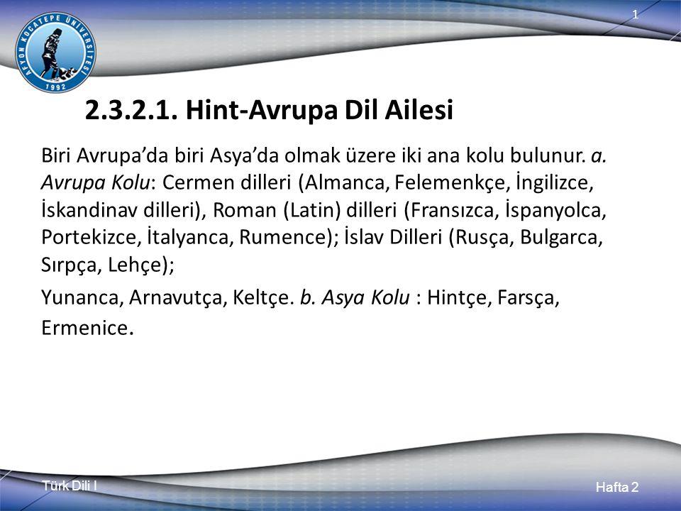 Türk Dili I Hafta 2 1 2.3.2.1.