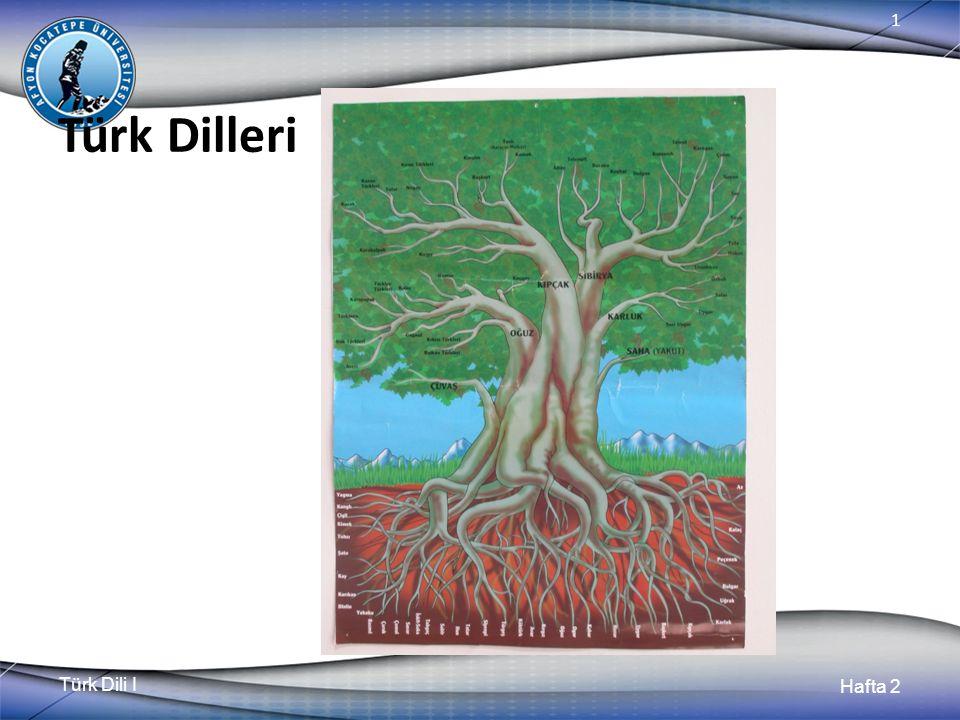 Türk Dili I Hafta 2 1 Türk Dilleri