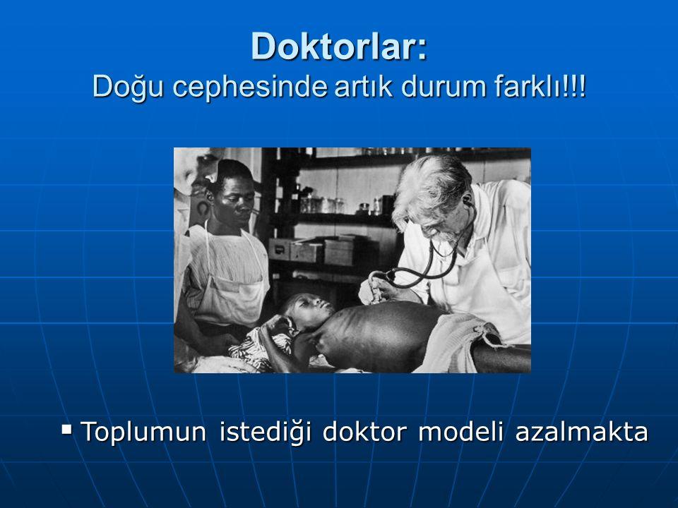 Doktorlar: Doğu cephesinde artık durum farklı!!!  Toplumun istediği doktor modeli azalmakta