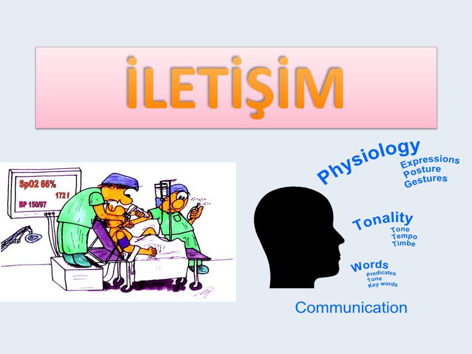 İLETİŞİMİN TANIMI Taylor(1994) iletişimi; iki insan ya da grup arasında bilginin, fikirlerin, inanışların, duyguların ve tutumların karşılıklı olarak değişmesi şeklinde tanımlamıştır.
