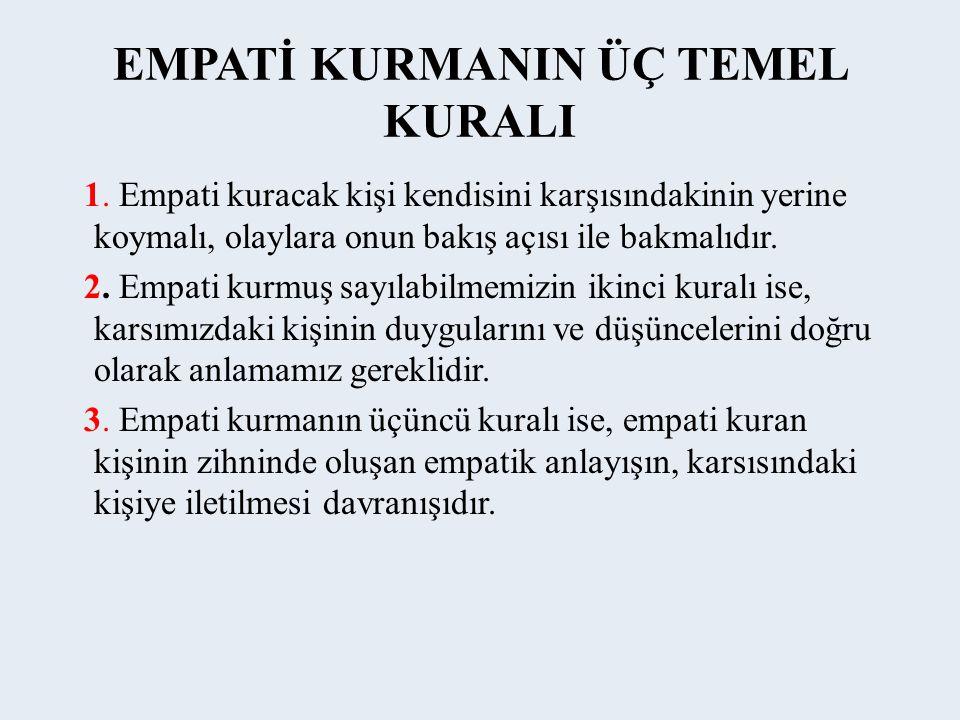 EMPATİ KURMANIN ÜÇ TEMEL KURALI 1.