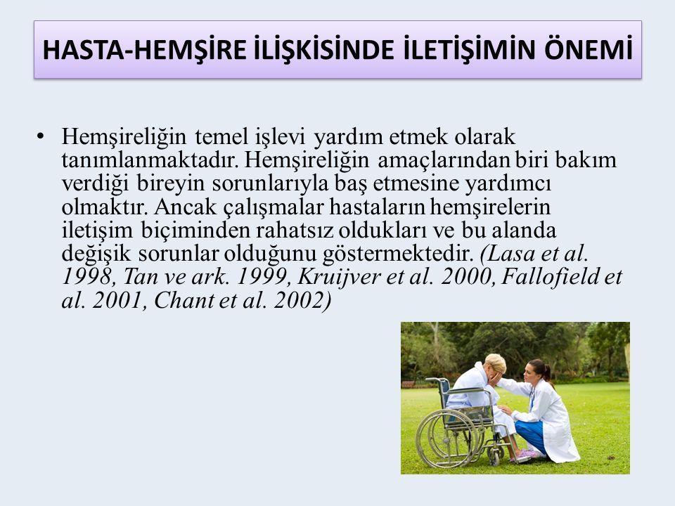 HASTA-HEMŞİRE İLİŞKİSİNDE İLETİŞİMİN ÖNEMİ Hemşireliğin temel işlevi yardım etmek olarak tanımlanmaktadır.
