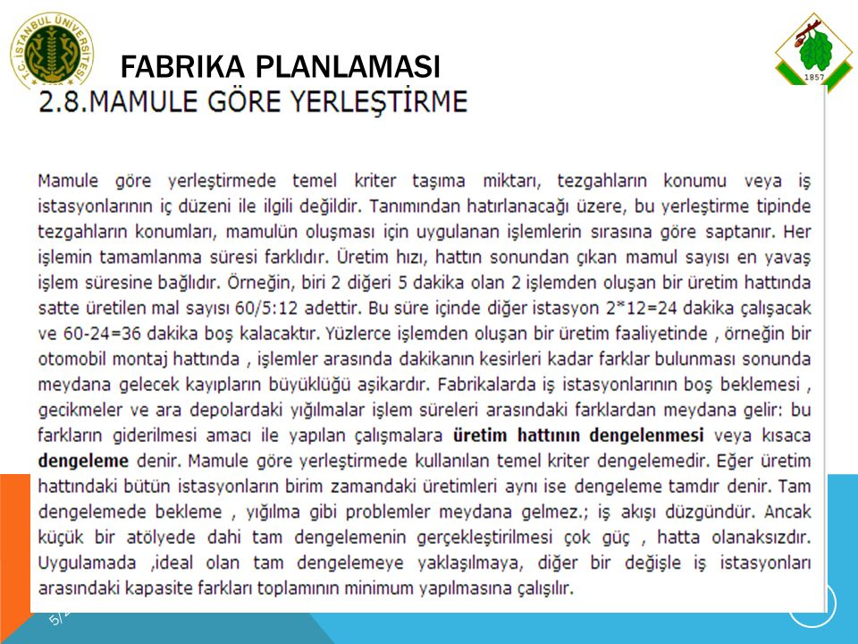 FABRIKA PLANLAMASI 5/29/2016 PROF.DR.K.HÜSEYIN KOÇ, FABRIKA PLANLAMASI-2012 78
