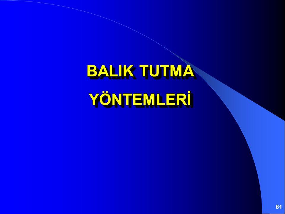 61 BALIK TUTMA YÖNTEMLERİ YÖNTEMLERİ
